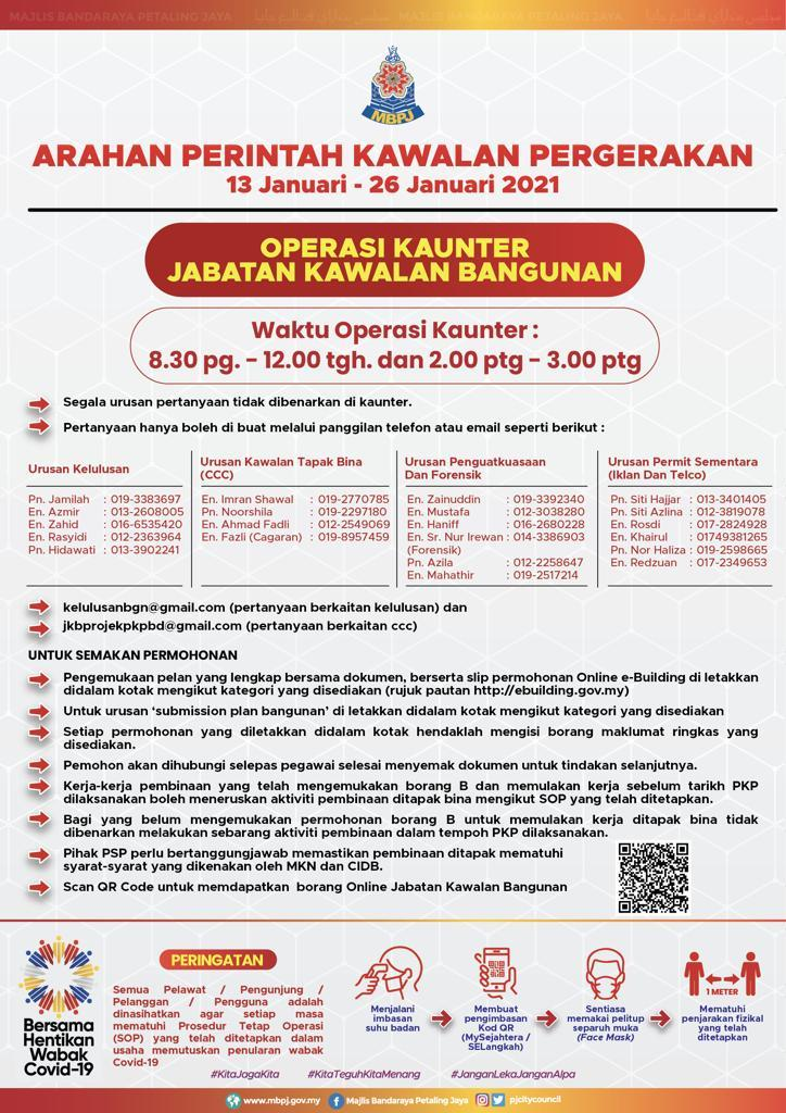 Jadual PKP Jabatan Kawalan Bangunan