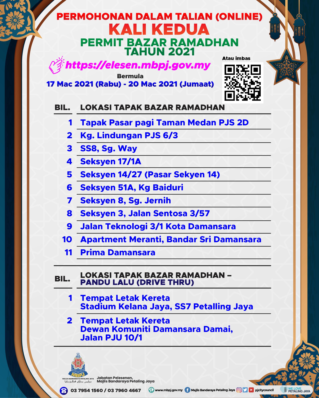 Poster Permohonan Bazar Ramadan 2021