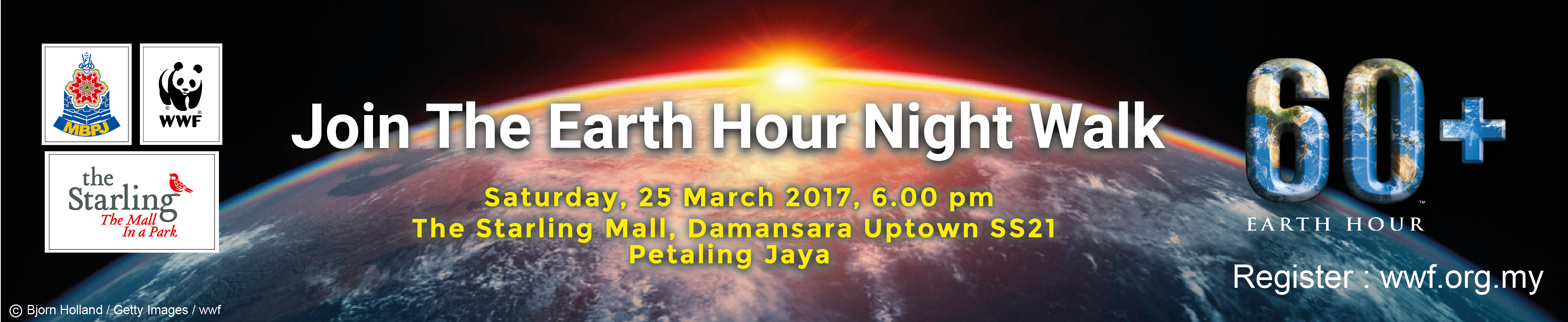 Banner Earth Hour 2017