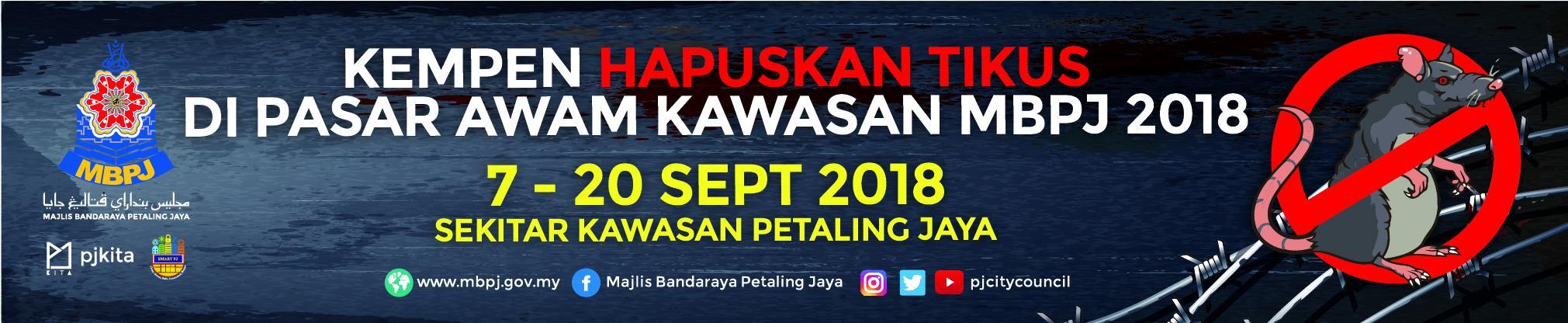 Banner Kempen Hapuskan Tikus 2018