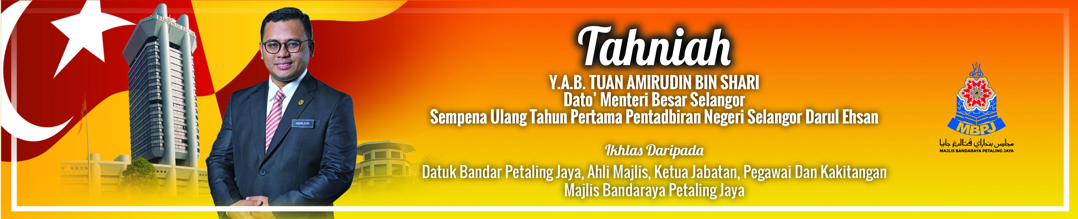 Banner Tahniah MB Selangor