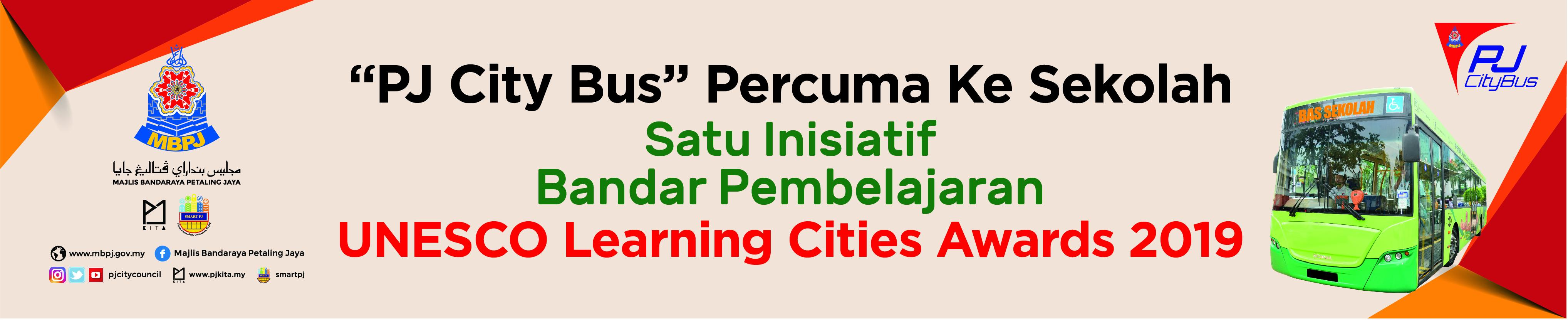 Banner PJ City Bus Unesco