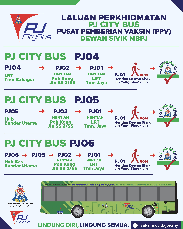 Laluan PJ City Bus PPV 1