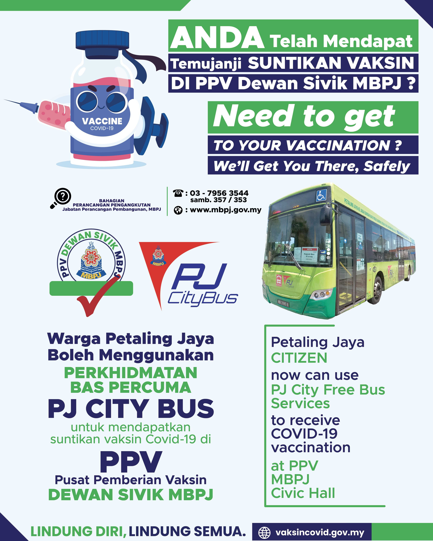 Poster Laluan PjCIty Bus PPV