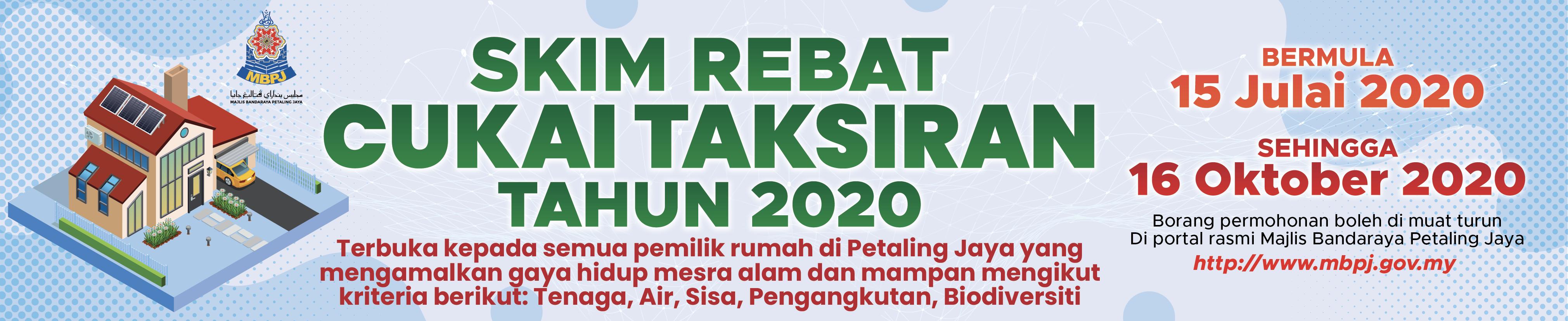 Banner Rebat Cukai Taksiran 2020
