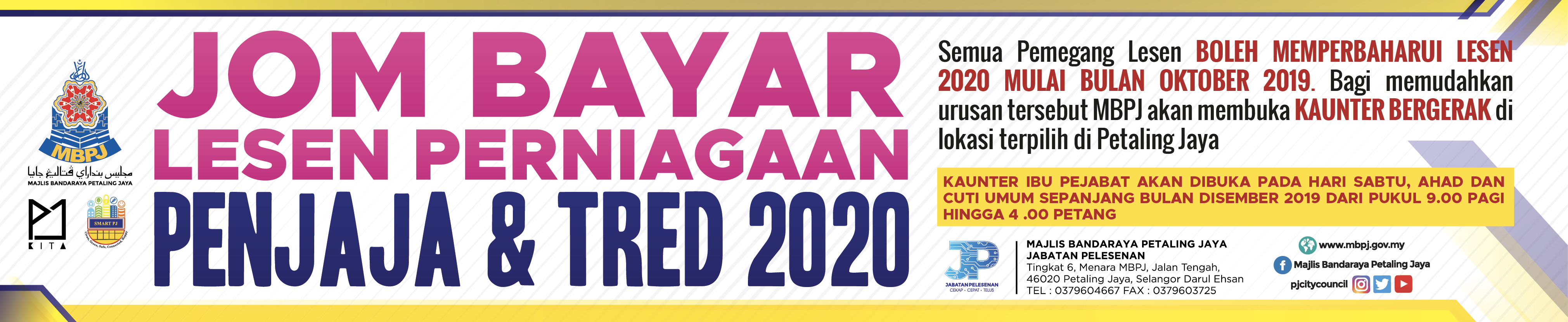 Banner Jom Bayar Lesen 2020