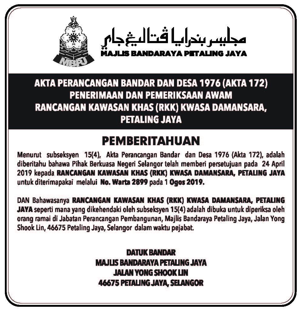 Notis Akhbar RKK Kwasa Damansara