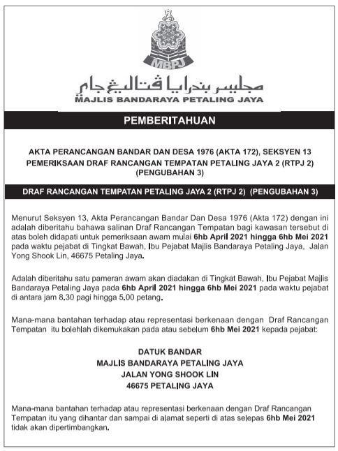 Notis Akhbar RTPJ2 P3 BM