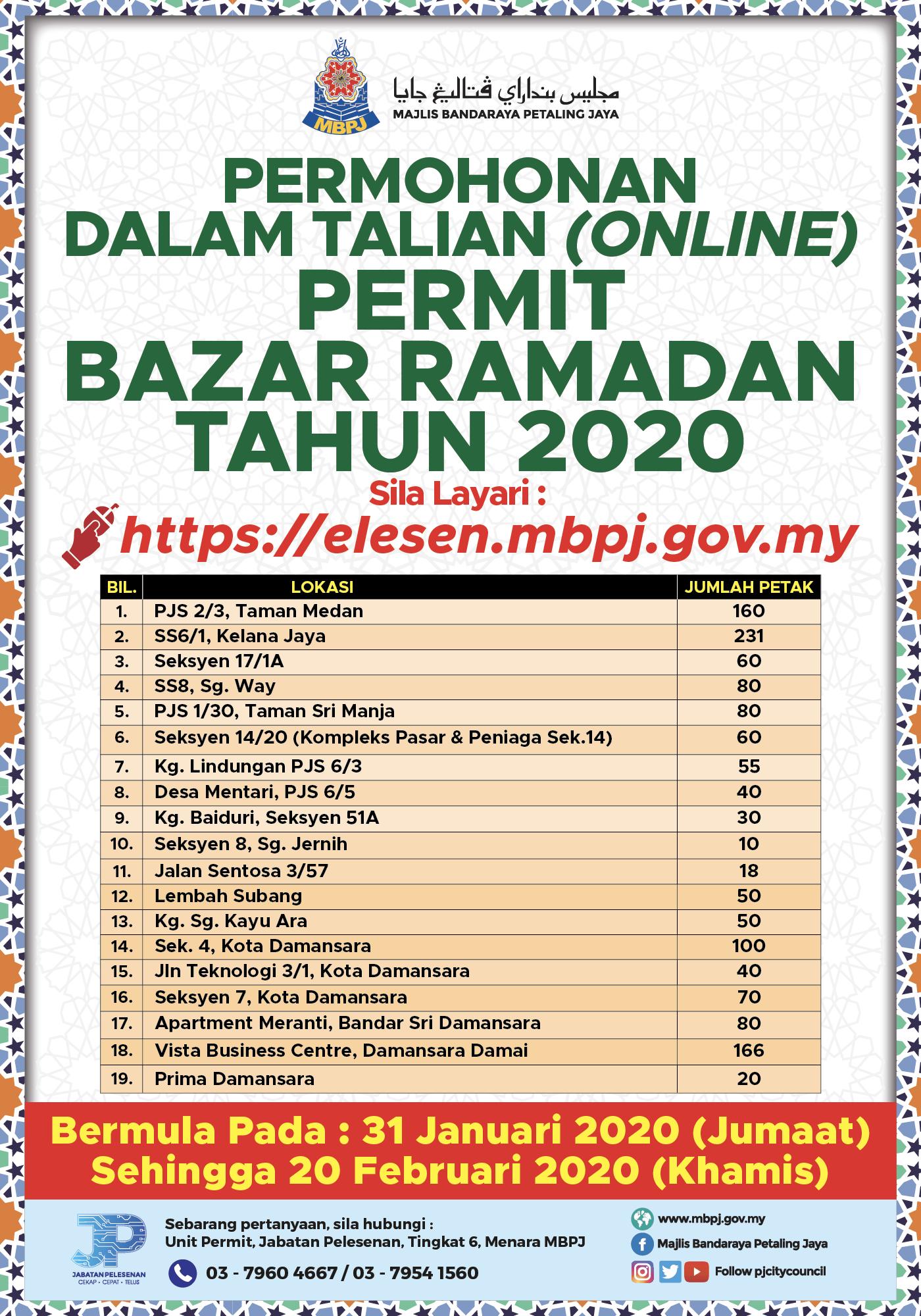 Permit Bazaar Ramadan 2020