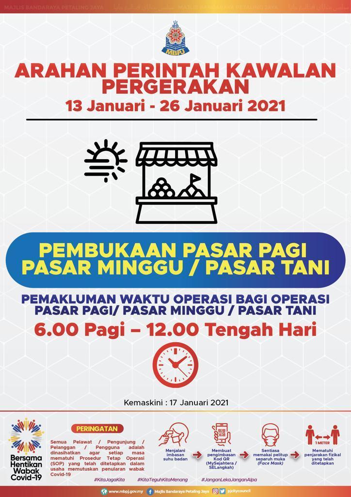 Jadual Pasar PKP 2021