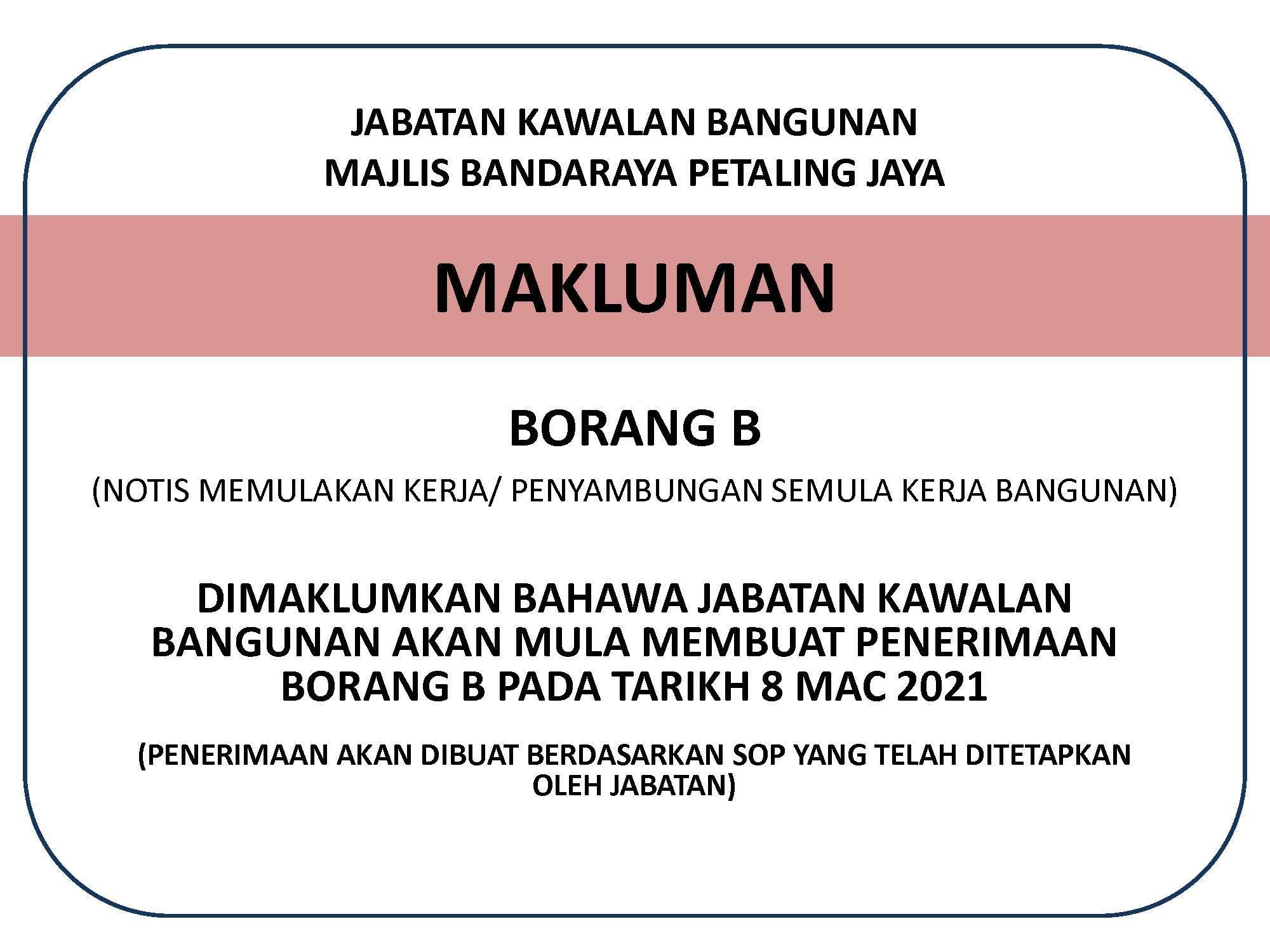 Makluman JKB 08032021
